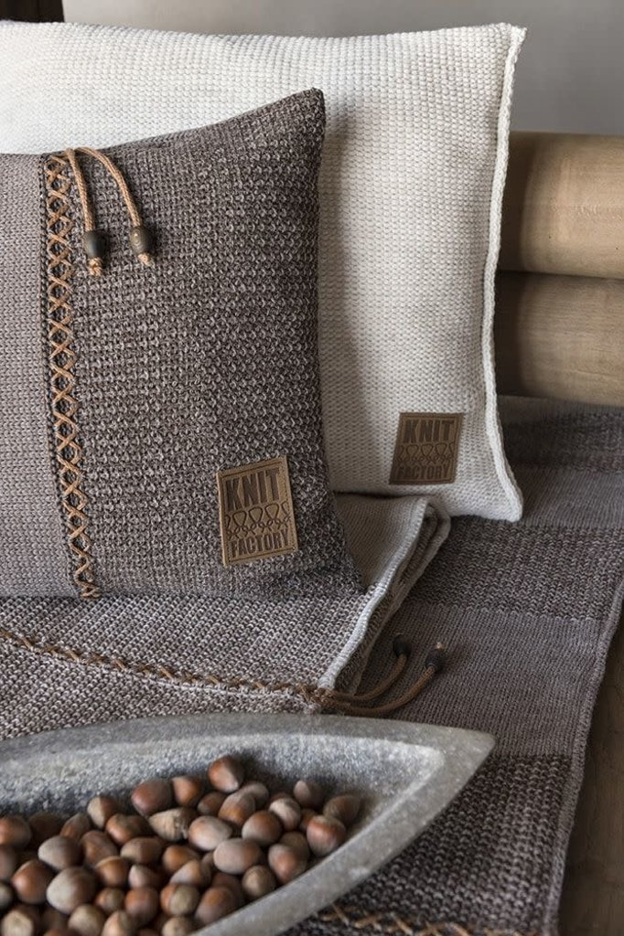 Knit Factory Knit Factory Roxx Kussen 60x40 Bruin/Taupe