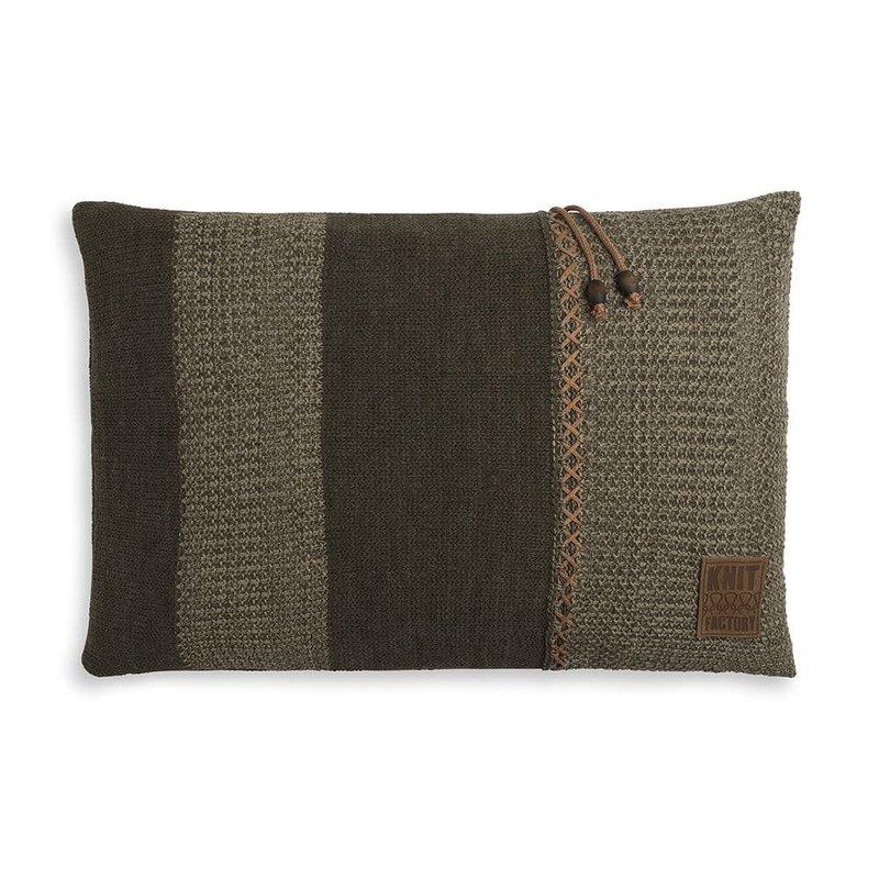 Knit Factory Knit Factory Roxx Kussen 60x40 Groen/Olive