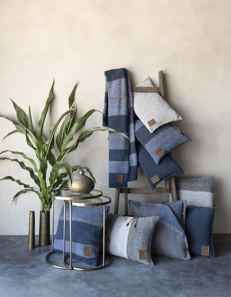 Knit Factory Knit Factory Roxx Kissen 50x50 Jeans/Indigo
