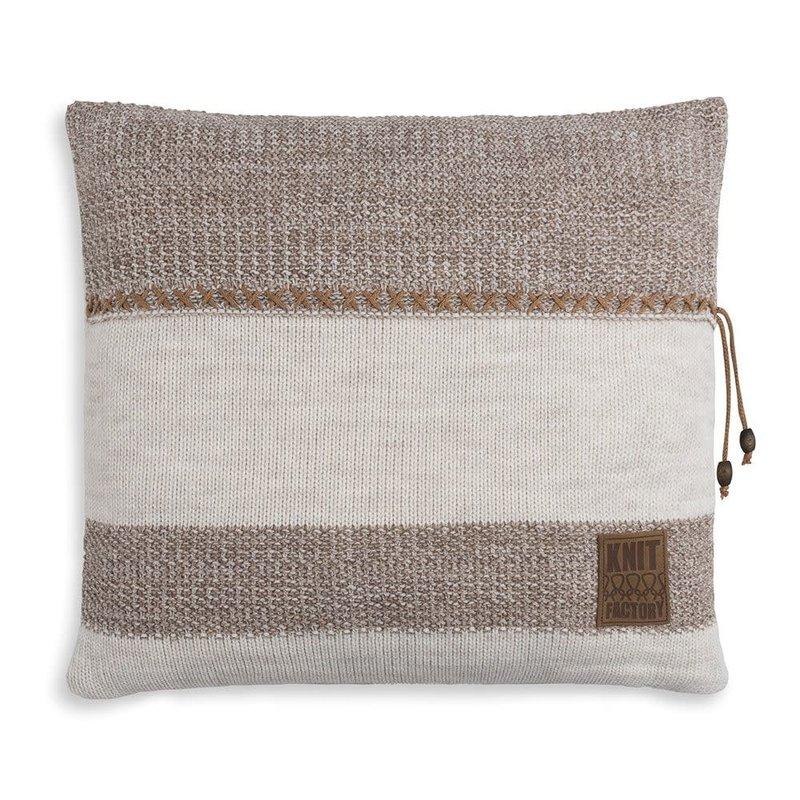 Knit Factory Knit Factory Roxx Kussen 50x50 Beige/Marron