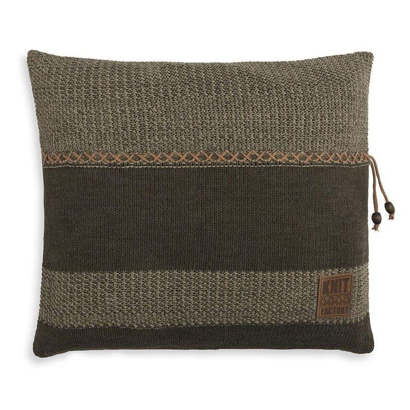 Knit Factory Knit Factory Roxx Kussen 50x50 Groen/Olive