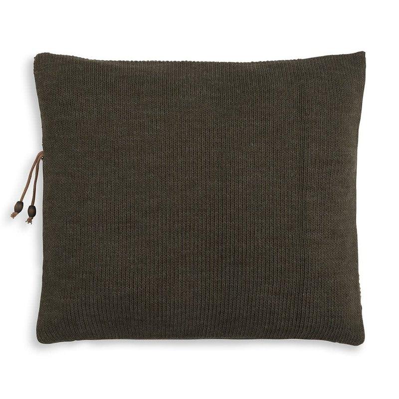 Knit Factory Knit Factory Roxx Kissen 50x50 Grün/Oliv