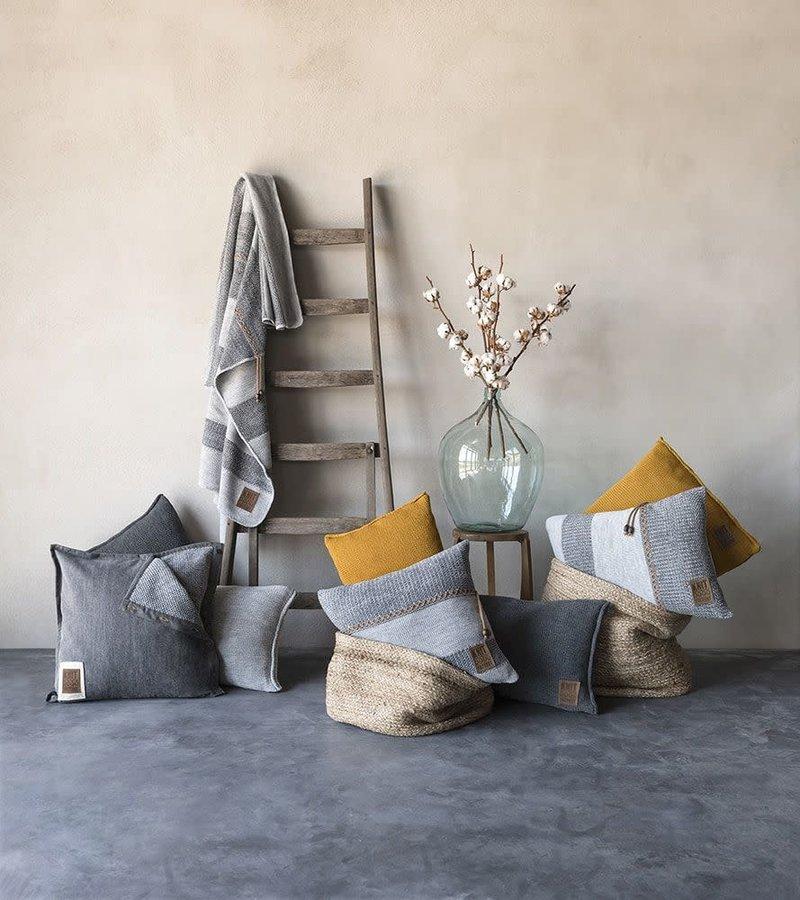 Knit Factory Knit Factory Rick Kussen 50x50 Grijs/Antraciet
