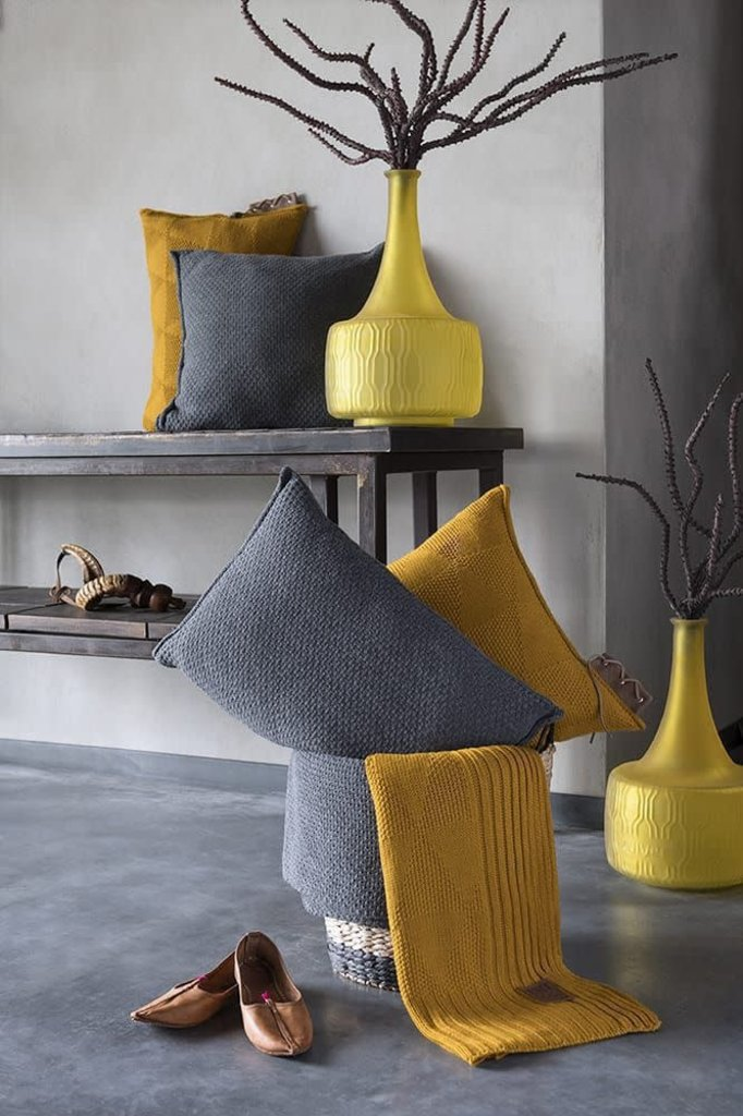 Knit Factory Knit Factory Jay Kussen 50x50 Beige