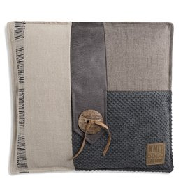 Knit Factory Lex Kissen 50x50 Antrazite