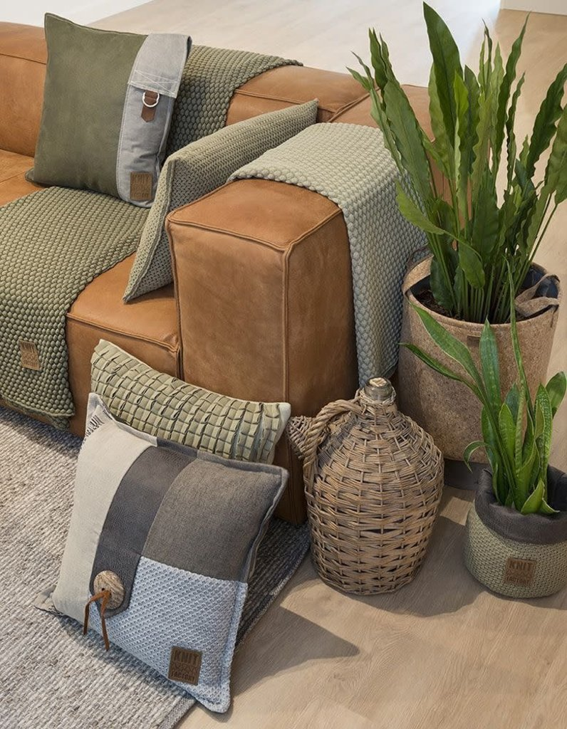 Knit Factory Knit Factory Lex Kussen 50x50 Licht Grijs