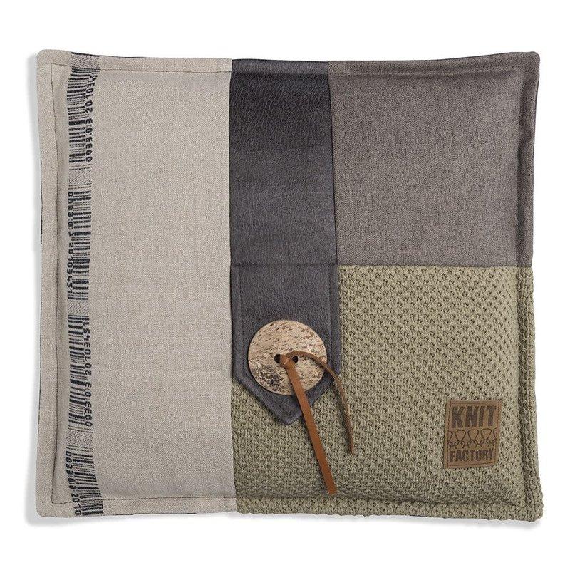 Knit Factory Knit Factory Lex Kissen 50x50 Oliv