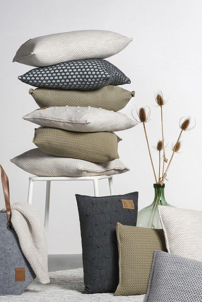 Knit Factory Knit Factory Maxx Kussen 50x50 Licht Grijs