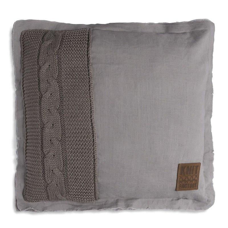 Knit Factory Knit Factory Jill Kussen 50x50 Taupe