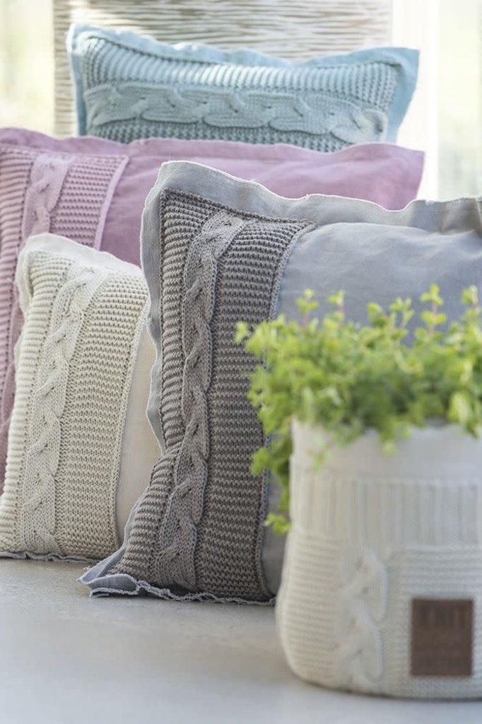 Knit Factory Knit Factory Jill Kissen 50x50 Taupe