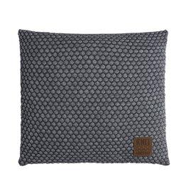 Knit Factory Juul Kussen 50x50 Antraciet/Licht Grijs