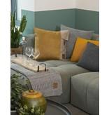Knit Factory Knit Factory Juul Kussen 50x50 Antraciet/Licht Grijs