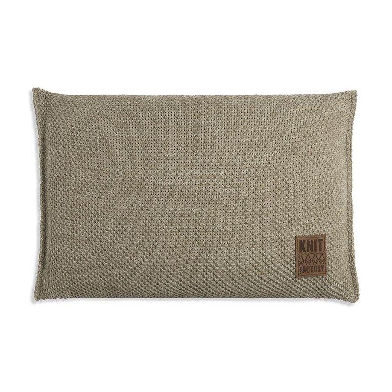 Knit Factory Knit Factory Zoë Kussen 60x40 Olive Mêlee