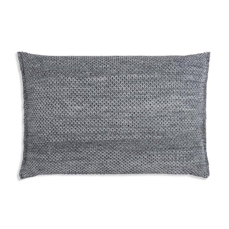 Knit Factory Knit Factory Zoë Kissen 60x40 Grau Melee