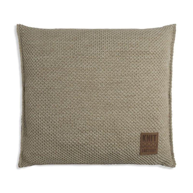 Knit Factory Knit Factory Zoë Kussen 50x50 Olive Mêlee