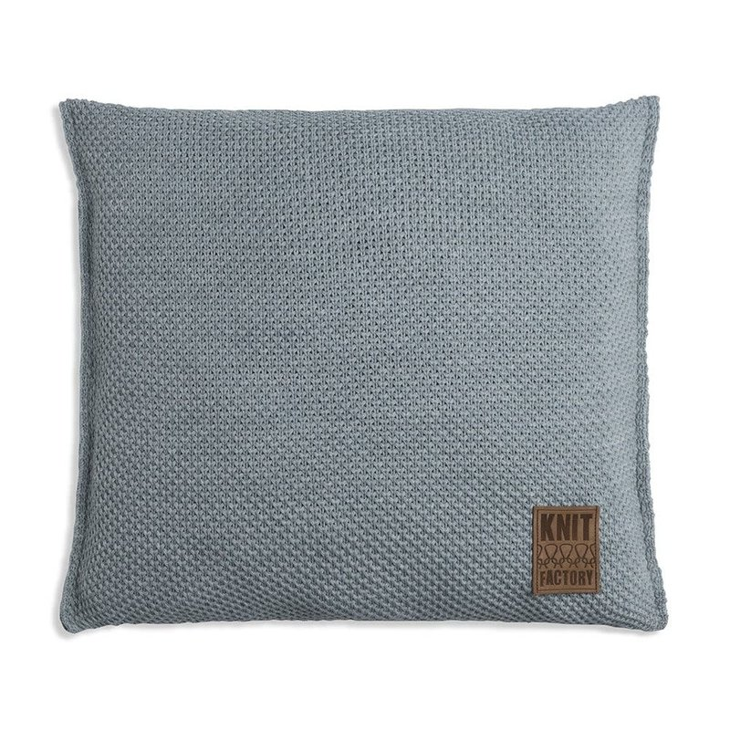 Knit Factory Knit Factory Zoë Kussen 50x50 Stone Green Mêlee