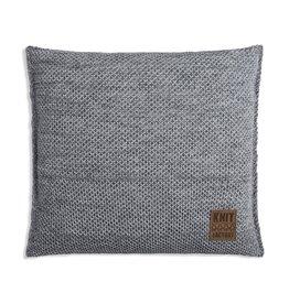 Knit Factory Zoë Kussen 50x50 Licht Grijs Mêlee