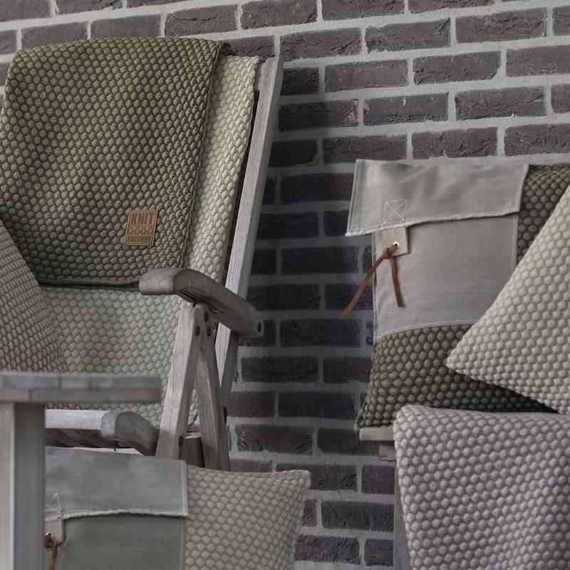 Knit Factory Knit Factory Jack Kussen 50x50 Seda/Olive