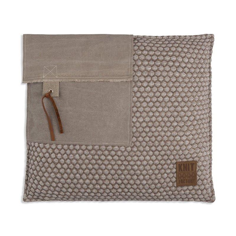 Knit Factory Knit Factory Jack Kussen 50x50 Marron/Beige