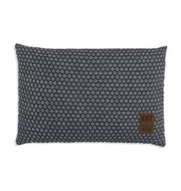 Knit Factory Juul Kissen 60x40 Anthrazit/Grau
