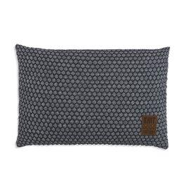 Knit Factory Juul Kussen 60x40 Antraciet/Licht Grijs