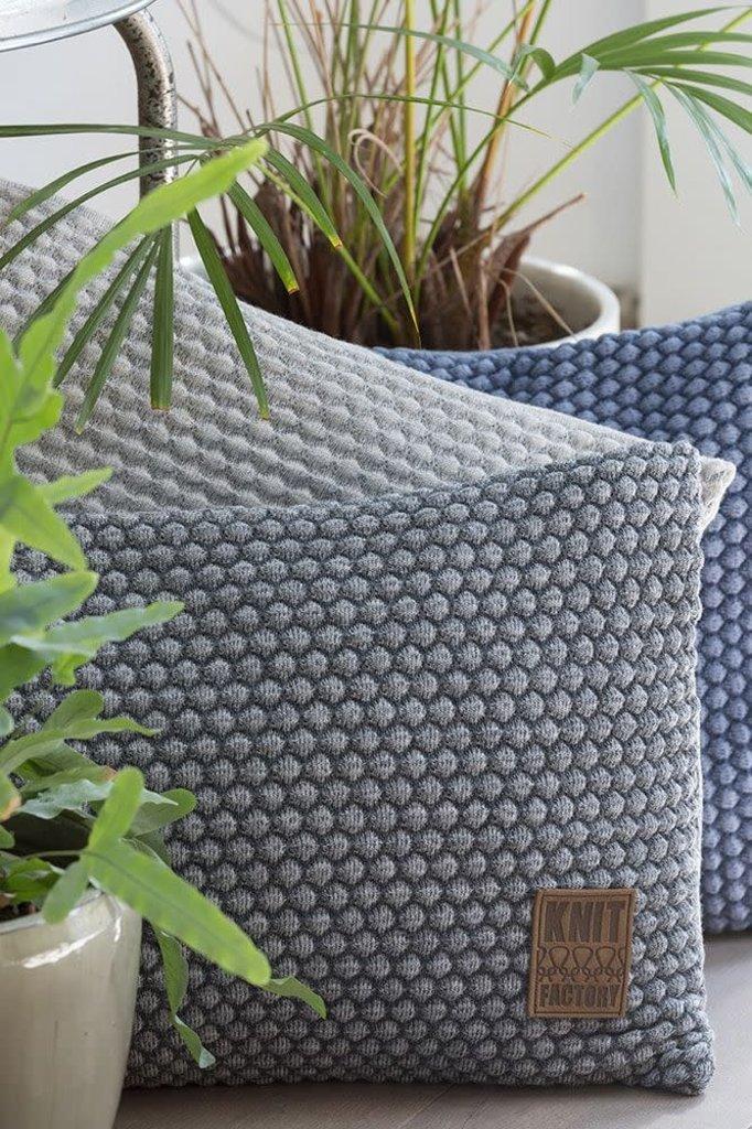 Knit Factory Knit Factory Juul Kussen 50x50 Jeans/Indigo