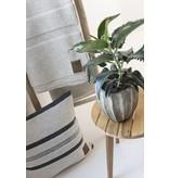 Knit Factory Yara Kussen 50x50 Antraciet/Licht Grijs
