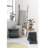 Knit Factory Yara Kussen 50x50 Licht Grijs/Antraciet
