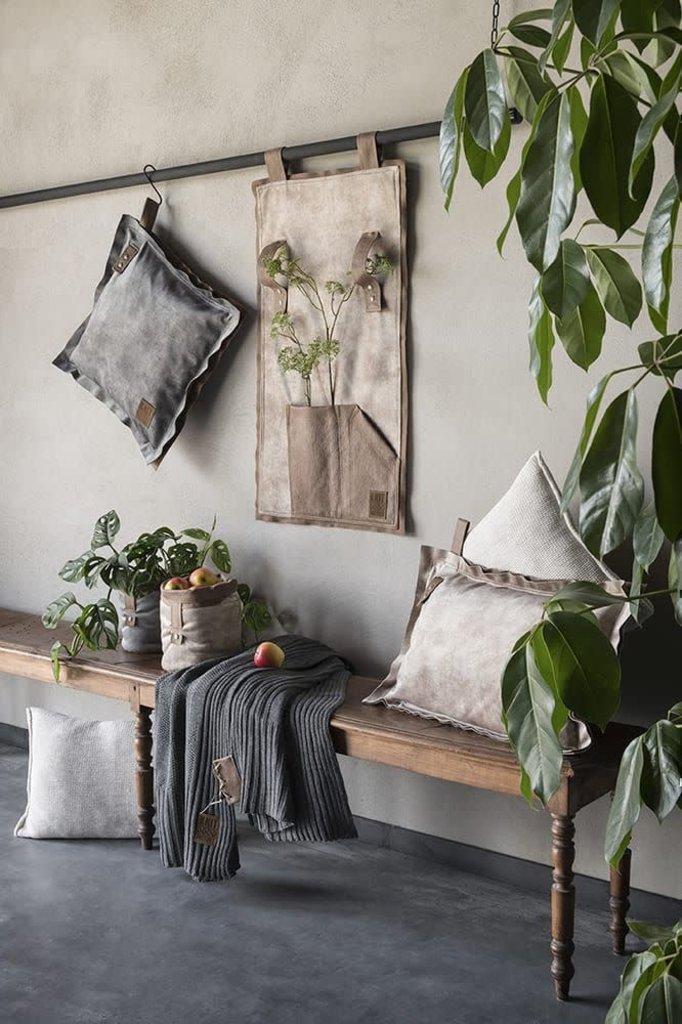 Knit Factory Dax Kussen 50x50 Antraciet
