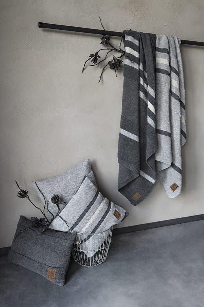 Knit Factory Yara Kussen 50x50 Beige/Licht Grijs