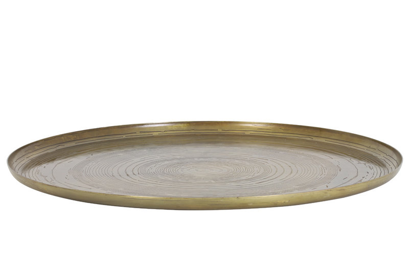 Light&Living Dienblad Ø60x2 cm MATO thrunk antiek brons