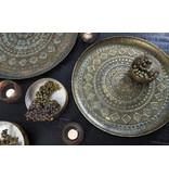 Light&Living Schaal Ø48x1,5 cm MELE antiek groen-goud