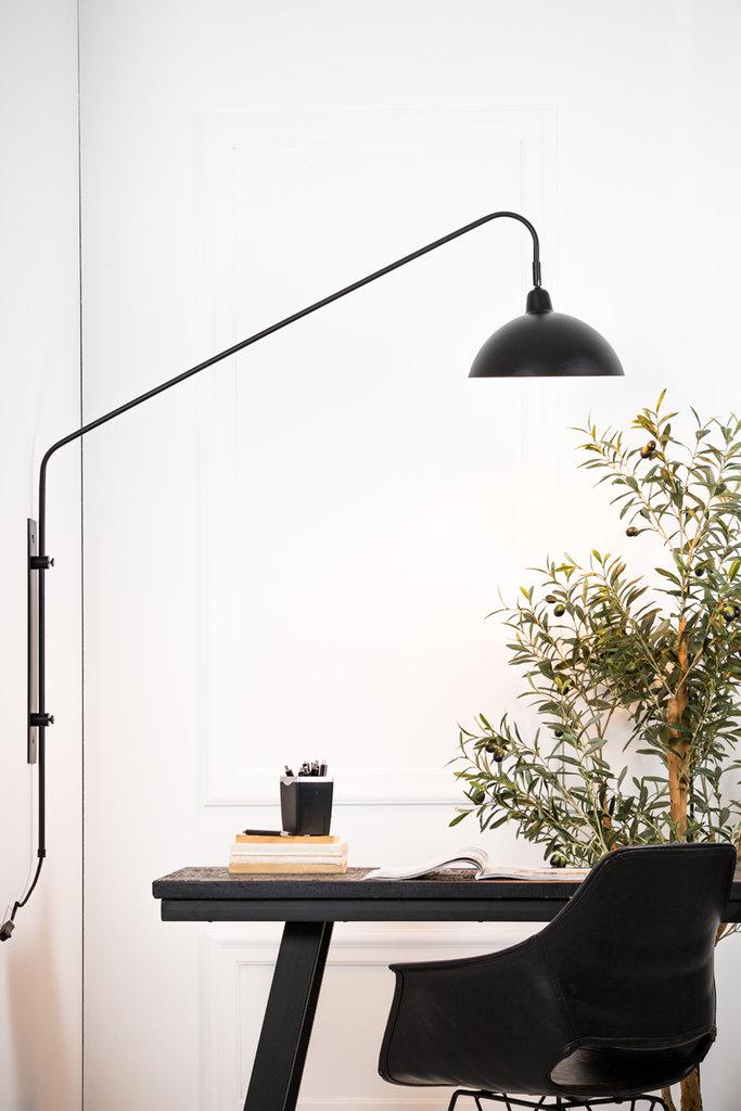 Light&Living Wandlamp 110x30x127 cm ORION mat zwart
