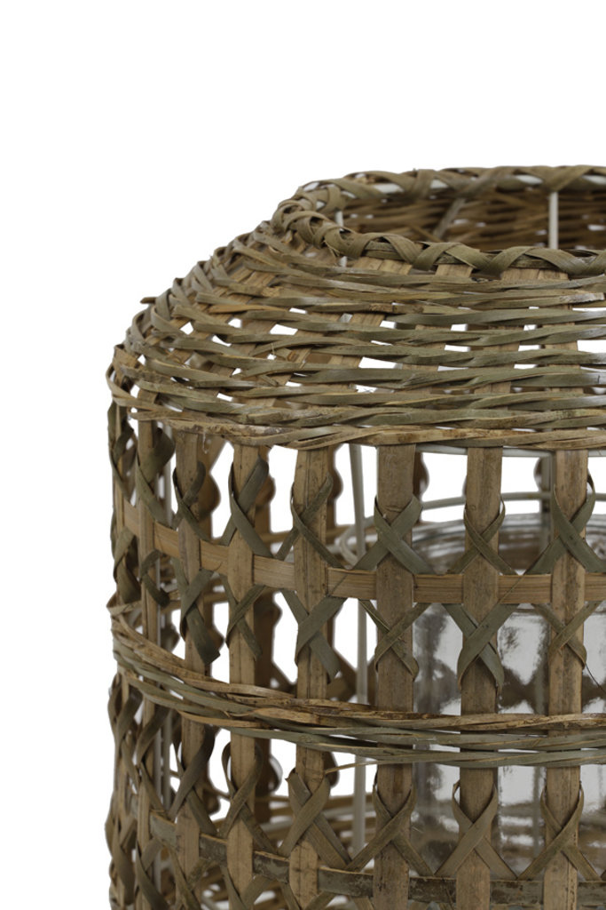 Light&Living Windlicht Ø28x28 cm BAMAGO bamboo