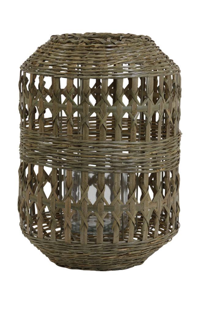 Light&Living Windlicht Ø28x40 cm BAMAGO bamboo