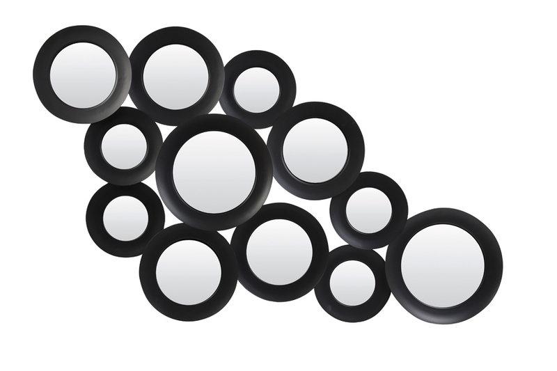 Light&Living Spiegel 130x3x68 cm ISPILU mat zwart
