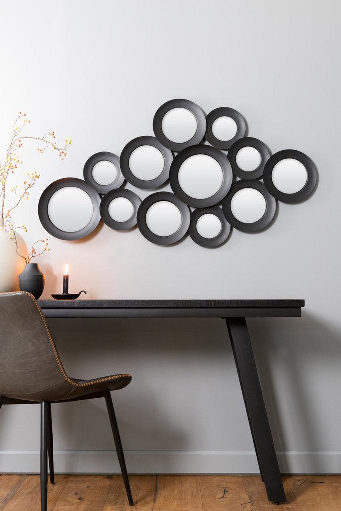 Light&Living Spiegel 130x3x68 cm ISPILU matt schwarz