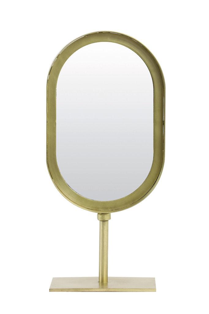 Light&Living Spiegel oval 16x10x35 cm LURE alt bronze
