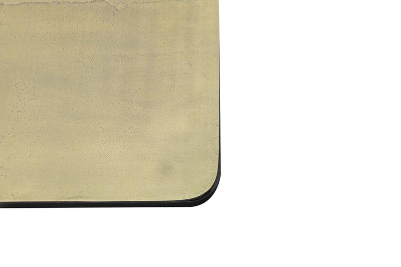 Light&Living Bijzettafel S/2 46x46x45+62x62x41 cm LEBU antiek koper+brons