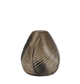 Light&Living Tafel lamp LED LEAF glas bruin15 cm