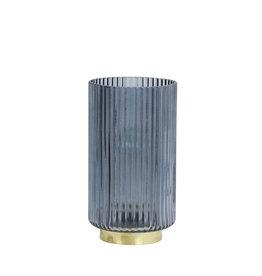 Light&Living Tisch lampe LED TOBANA glas hell blau 22,5 cm