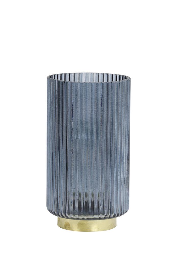 Light&Living Tafel lamp LED Ø12x22,5 cm TOBANA glas licht blauw