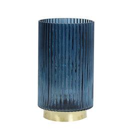 Light&Living Tafel lamp LED TOBANA glas licht blauw 27,5 cm