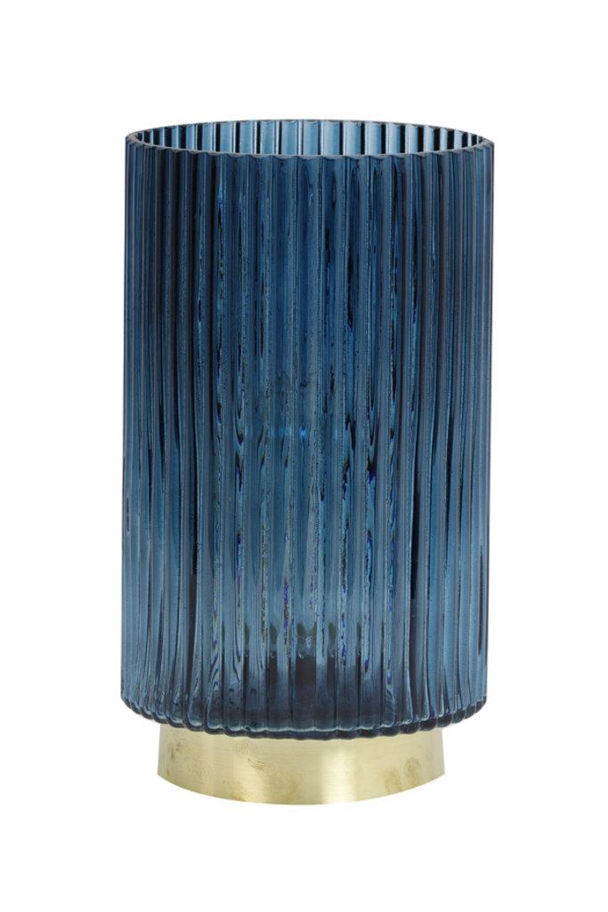 Light&Living Tafel lamp LED Ø15x27,5 cm TOBANA glas licht blauw