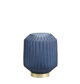 Light&Living Tafel lamp LED IVOT glas mat blauw 17 cm