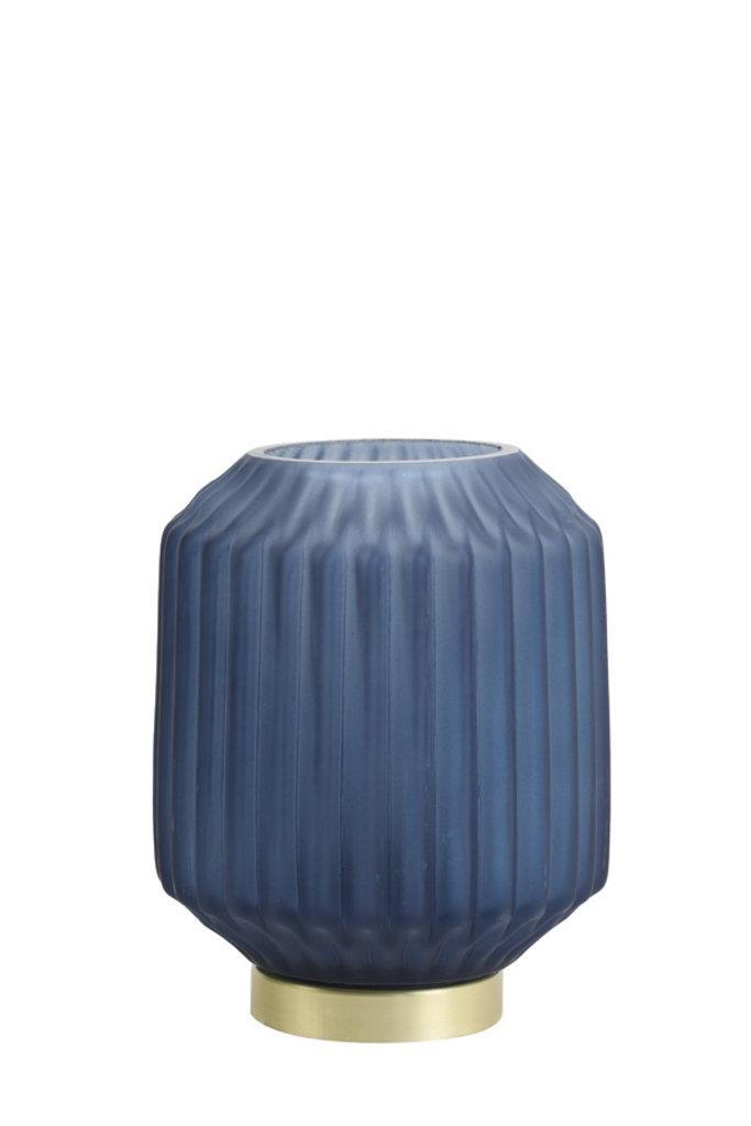 Light&Living Tafel lamp LED Ø13x17 cm IVOT glas mat blauw