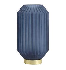 Light&Living Tafel lamp LED IVOT glas mat blauw 27 cm