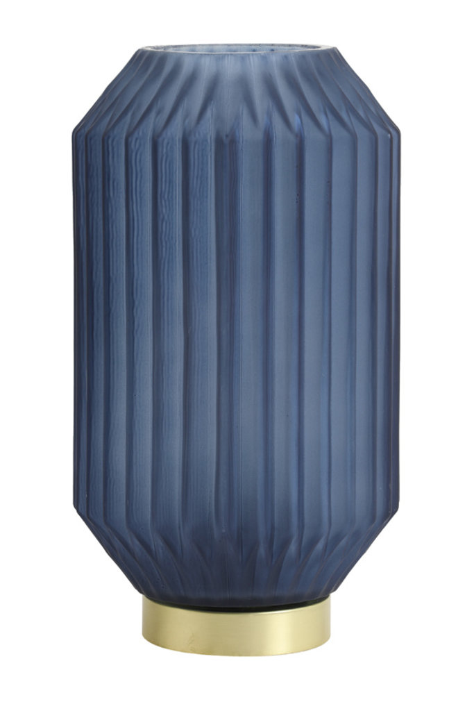 Light&Living Tisch lampe LED Ø15x27 cm IVOT glas matt blau