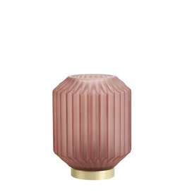 Light&Living Tafel lamp LED IVOT glas mat steen rood 17 cm