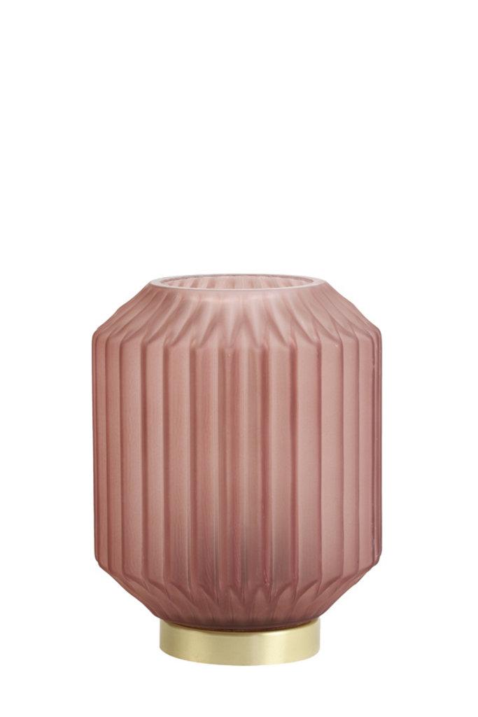 Light&Living Tafel lamp LED Ø13x17 cm IVOT glas mat steen rood